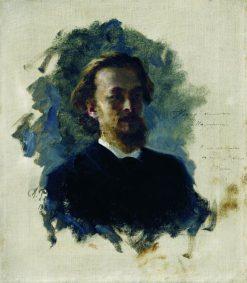 Head of a Man | Ilia Efimovich Repin | Oil Painting
