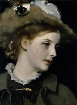 Portrait of a Lady   Karl Gussow   Oil Painting