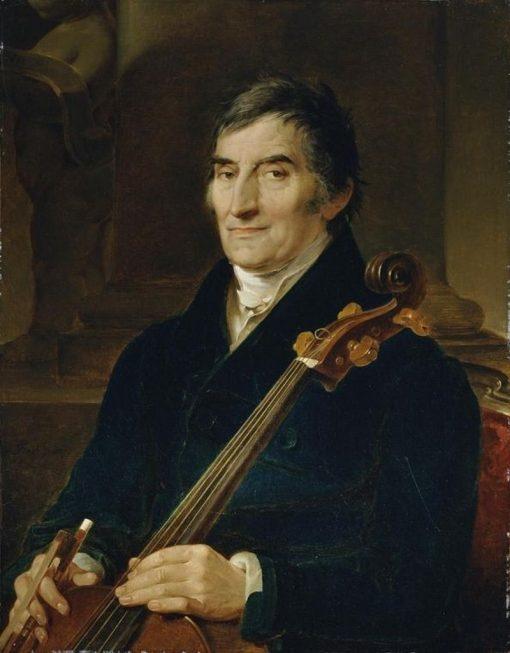 Cellist Franz Wödl   Peter Fendi   Oil Painting