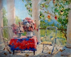 On the Terrace | Konstantin Gorbatov | Oil Painting