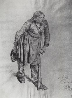 The Hunchback (study) | Ilia Efimovich Repin | Oil Painting