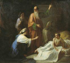 Prophet Elijah and the Widow of Zarephath | Adrian Volkov | Oil Painting