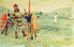 David and Goliath | Ilia Efimovich Repin | Oil Painting