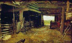The Farmyard | Ilia Efimovich Repin | Oil Painting