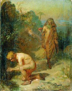 Diogenes and a Boy | Ilia Efimovich Repin | Oil Painting