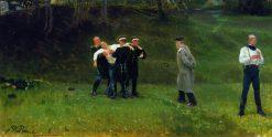 The Duel | Ilia Efimovich Repin | Oil Painting