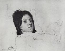 Head of a Woman | Ilia Efimovich Repin | Oil Painting