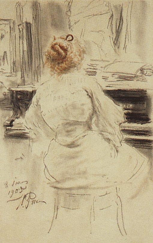 At the Piano | Ilia Efimovich Repin | Oil Painting