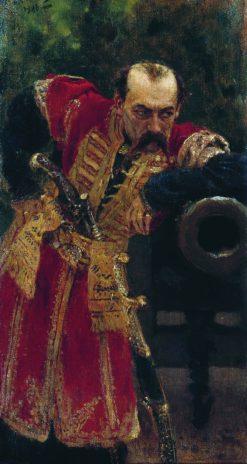 The Cossack Colonel | Ilia Efimovich Repin | Oil Painting