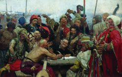 The Reply of the Zaporozhian Cossacks to Turkish Sultan Mahmoud IV | Ilia Efimovich Repin | Oil Painting