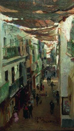 A Street in Seville | Ilia Efimovich Repin | Oil Painting