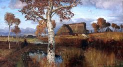 Autumn on the Moor | Otto Modersohn | Oil Painting