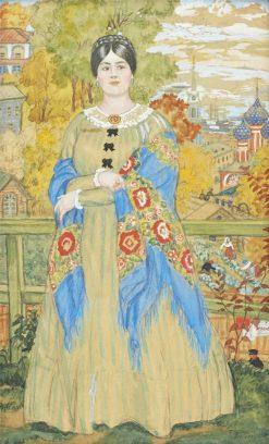 The Merchants Wife | Boris Mikhailovich Kustodiev | Oil Painting