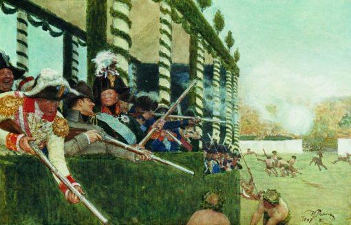 Alexander I and Napoleon Hunting | Ilia Efimovich Repin | Oil Painting