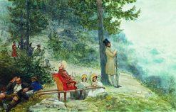 Emperor Nicholas I and Empress Alexandra | Ilia Efimovich Repin | Oil Painting