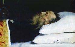 Historian Nikolai Kostomarov in the Coffin | Ilia Efimovich Repin | Oil Painting