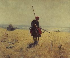 Cossack in the Steppe | Ilia Efimovich Repin | Oil Painting
