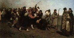 The Religious Procession | Ilia Efimovich Repin | Oil Painting