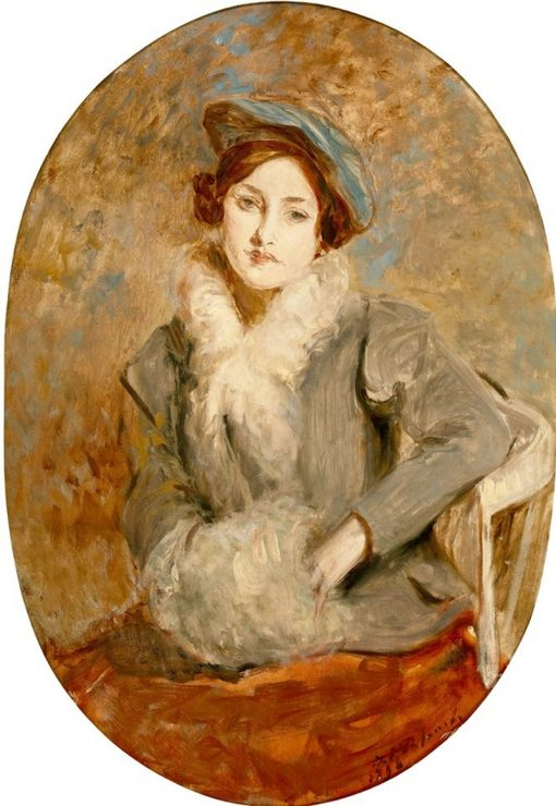 Desiree Manfred with a Muff | Jacques-Emile Blanche | Oil Painting