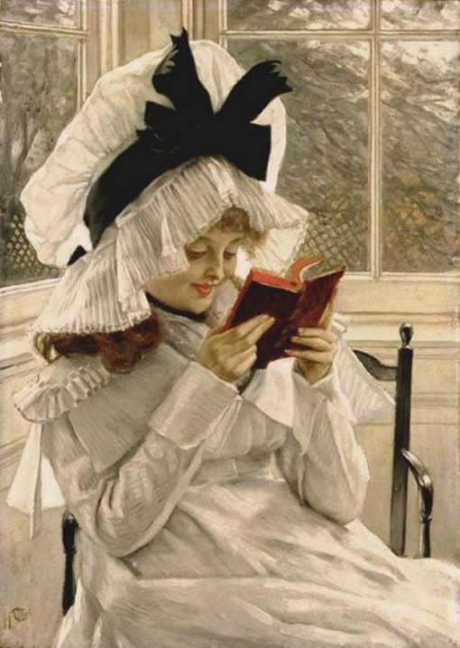Reading a Book | James Tissot | Oil Painting