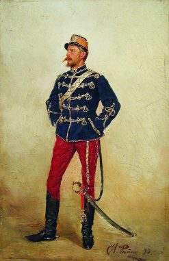 A Young Officer | Ilia Efimovich Repin | Oil Painting
