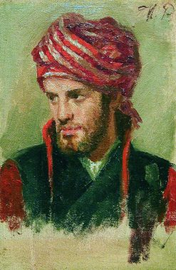 Young Man with a Turban | Ilia Efimovich Repin | Oil Painting