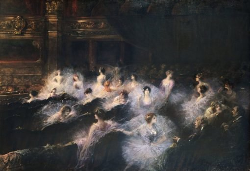 An Interval at the Opera | Georges Jules Victor Clairin | Oil Painting