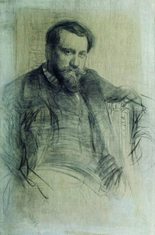 Portrait of Painter Valentin Serov | Ilia Efimovich Repin | Oil Painting