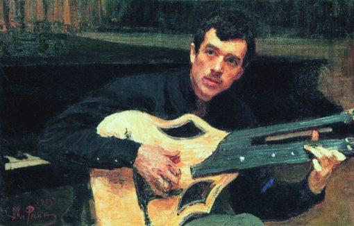 Portrait of Artist V.S. Svarog   Ilia Efimovich Repin   Oil Painting