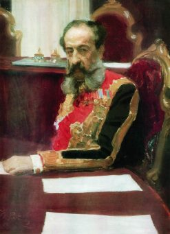 Portrait of Prince Mikhail Volkonsky | Ilia Efimovich Repin | Oil Painting