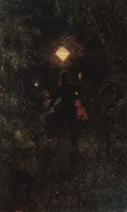 Promenade with Lanterns | Ilia Efimovich Repin | Oil Painting