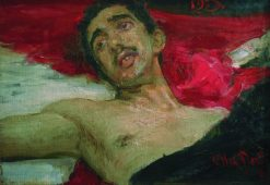 Wounded Man   Ilia Efimovich Repin   Oil Painting