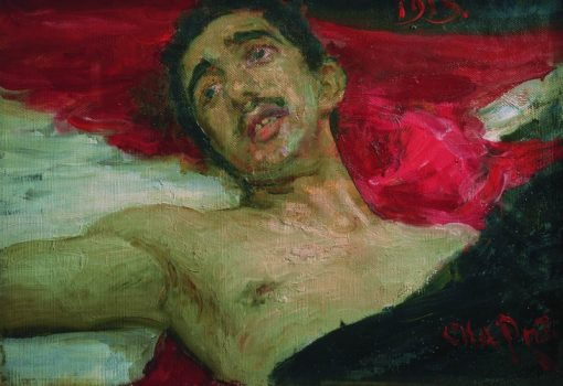 Wounded Man | Ilia Efimovich Repin | Oil Painting