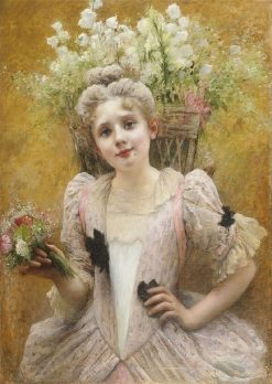 The Flower Seller | Valentine Cameron Prinsep | Oil Painting