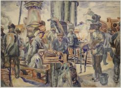 Workers of the Kerch Factory | Aristarkh Lentulov | Oil Painting