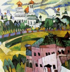 Landscape with Churches | Aristarkh Lentulov | Oil Painting