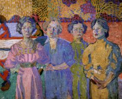 Portrait of Four People | Aristarkh Lentulov | Oil Painting
