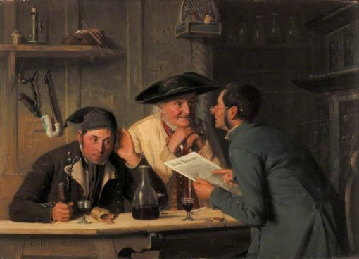 The Village Politicians | August Heyn | Oil Painting