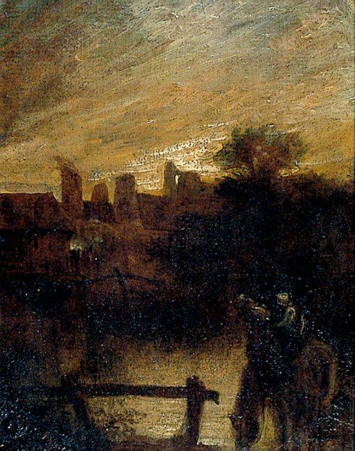 Horse Watering   John Crome   Oil Painting