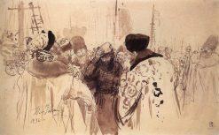 Sadko on the Market Square | Ilia Efimovich Repin | Oil Painting