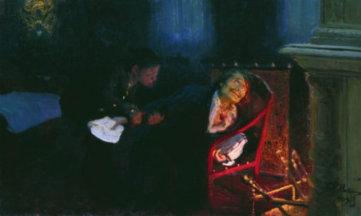 Writer Nikolai Gogol Burning His Notes | Ilia Efimovich Repin | Oil Painting