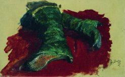 Boots (study)   Ilia Efimovich Repin   Oil Painting