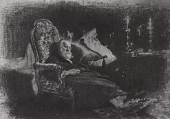 The Death of Fedor Chizhov | Ilia Efimovich Repin | Oil Painting