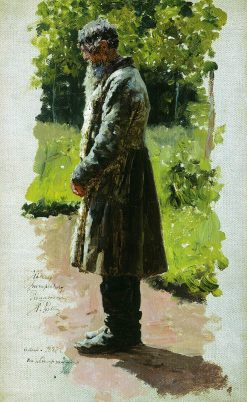 An Old Peasant | Ilia Efimovich Repin | Oil Painting