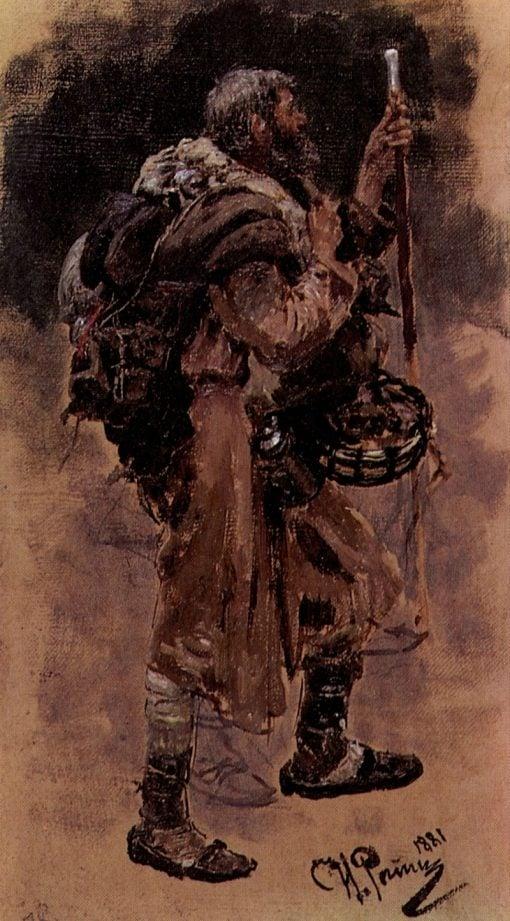 A Pilgrim | Ilia Efimovich Repin | Oil Painting