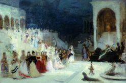 Ballet Scene   Ilia Efimovich Repin   Oil Painting