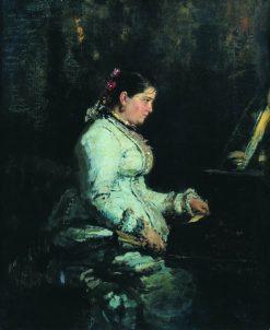 Woman at the Piano | Ilia Efimovich Repin | Oil Painting
