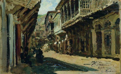 A Street in Tiflis | Ilia Efimovich Repin | Oil Painting