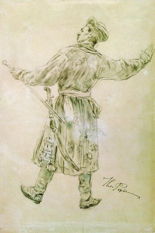 A Dancing Man | Ilia Efimovich Repin | Oil Painting