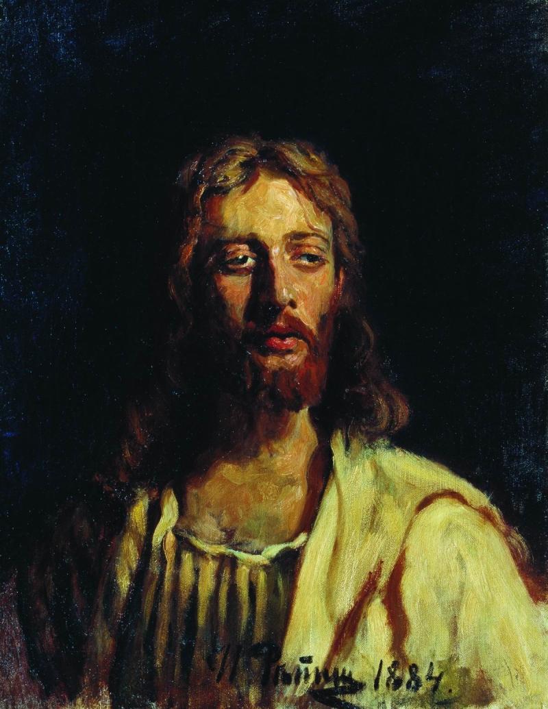 Jesus Christ Painting Ilia Efimovich Repin Oil Paintings